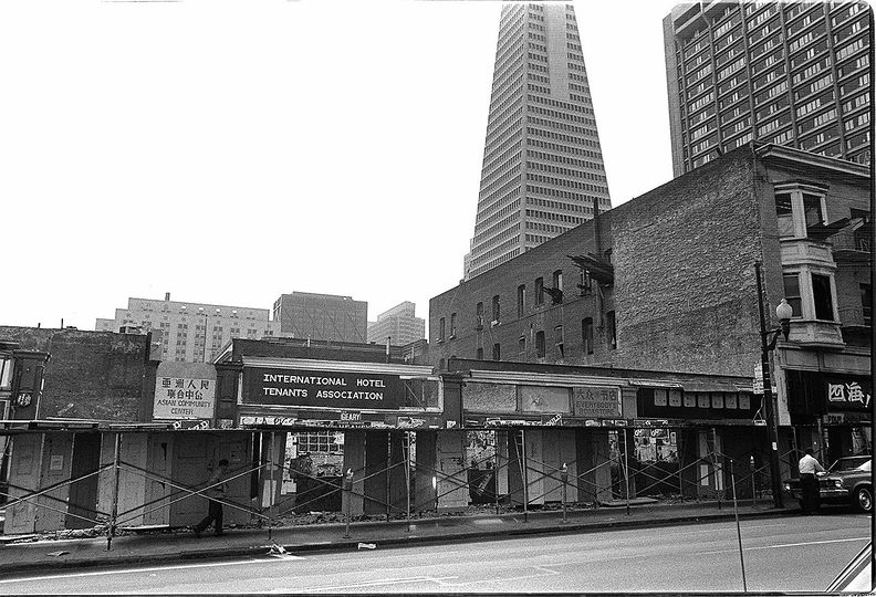International Hotel at 848 Kearny Street in San Francisco, around 1979 Nancy Wong Wikimedia Commons.jpg