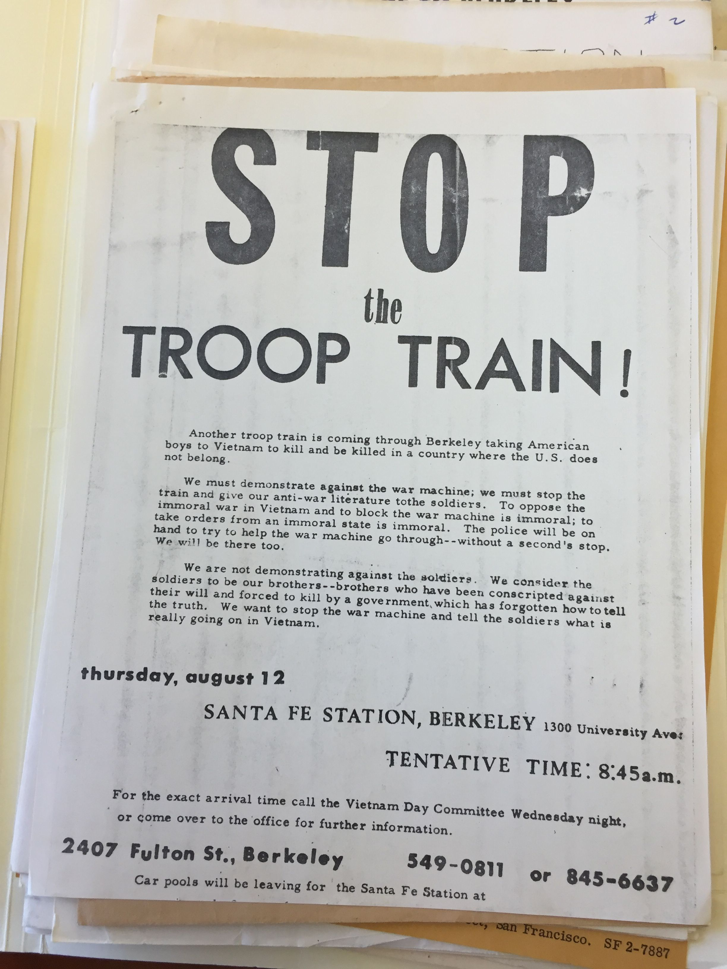 Stop the Troop Train Flier.JPG