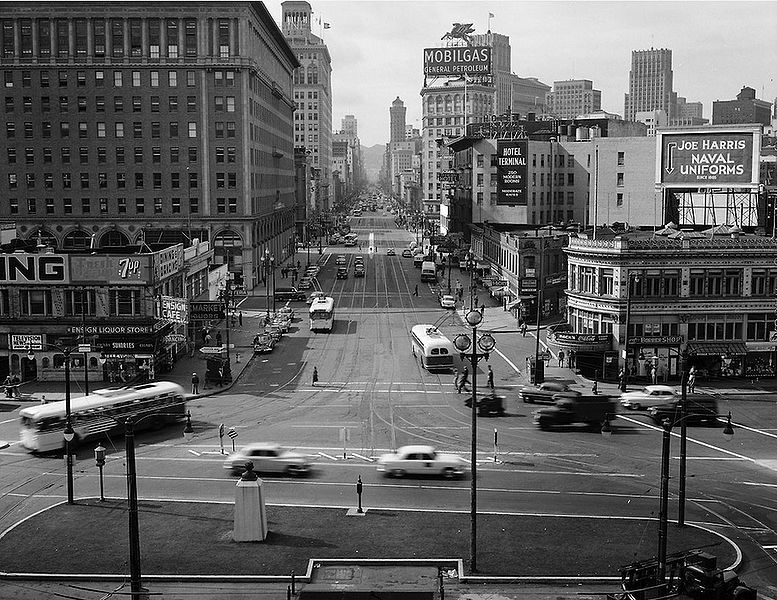 File:View-of-Market-St-from-the-Top-of-the-Ferry-Building---October-13-1953-SFMTA.jpg