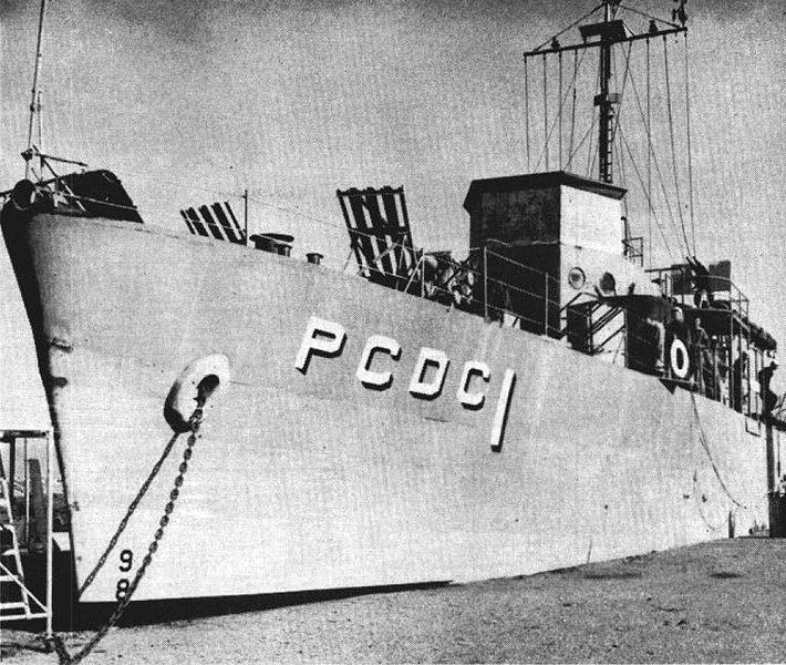 File:USS Pandemonium (PCDC-1) on Treasure Island CA in 1957.jpg