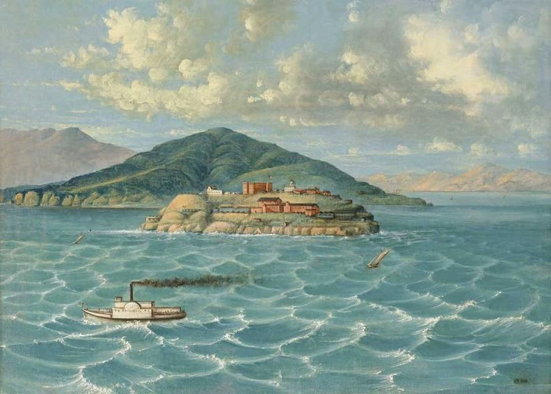 Alcatraz oil painting as early military base.jpg