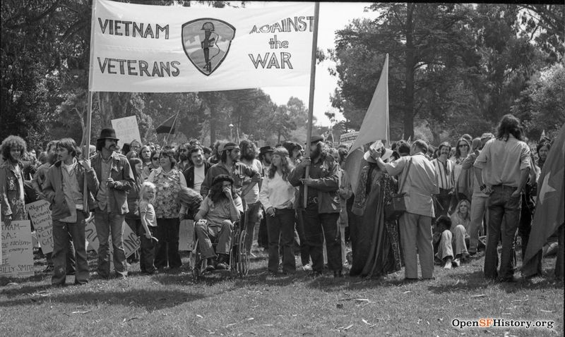 Panhandle, Vietnam Veterans Against the War. Anti Vietnam War March, from the Golden Gate Park Panhandle to Kezar Stadium wnp28.3248.jpg
