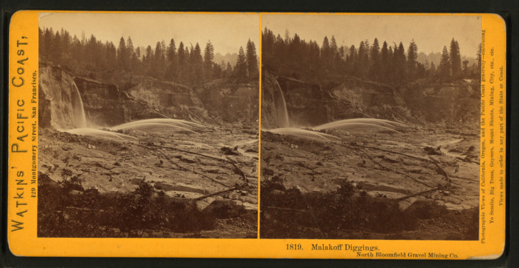 1280px-Malakoff Diggings, North Bloomfield Gravel Mining, by Watkins, Carleton E., 1829-1916 3.png