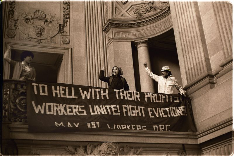 File:Protest at San Francisco's CITY Hall by supporters of the International Hotel, 1977 Nancy Wong.jpg